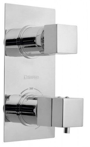 Podtynkowa termostyczna bateria LATUS z przełącznikiem 2 wejścia