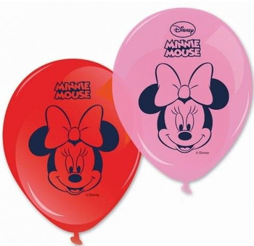 Balony z nadrukiem Myszka Minnie - Minnie Mouse Dots, 8 szt.