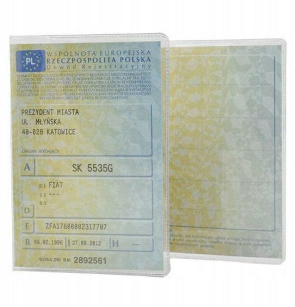 Etui okładka na dowód rejestracyjny 1 sztuka KAT04335
