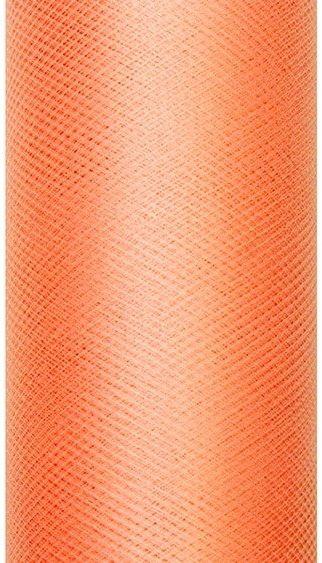 Tiul dekoracyjny pomarańczowy 15cm rolka 9m TIU15-005 - POMARAŃCZOWY 15CM