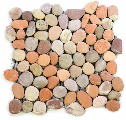 Mozaika z naturalnych kamieni ozdobnych Garth na siatce 1 m2