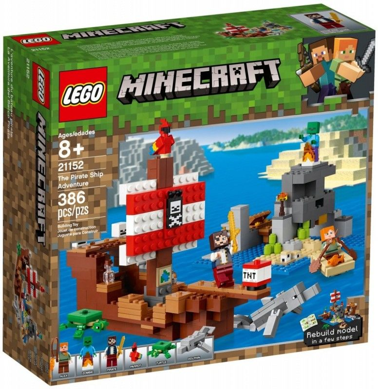 Klocki Minecraft 21152 Przygoda na statku pirackim