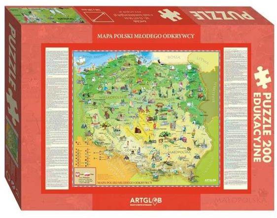 Puzzle 200 Polska Młodego Odkrywcy - ArtGlob