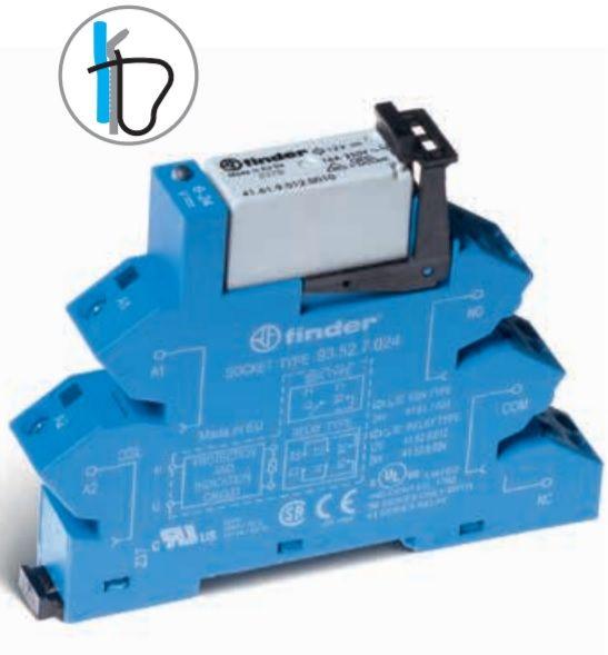 Przekaźnikowy moduł sprzęgający Finder 38.11.0.240.0060 Moduł sprzęgający, przełączny 1CO (SPDT) 16 A AgNi 220 240 V AC/DC Finder 38.11.0.240.0060