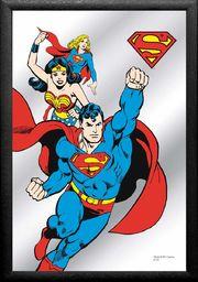 Close Up V829265 Superman lustro Comic, czarne