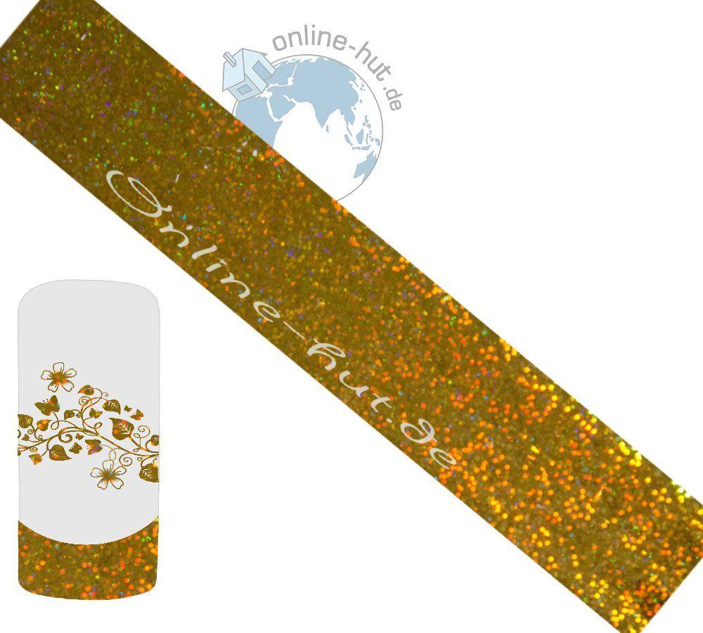 Folia transferowa złoty brokatowy hologram 2