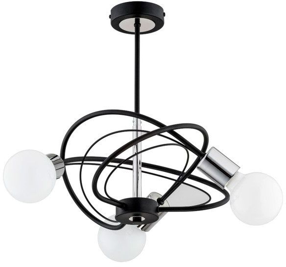 Lampa sufitowa LUER III CZARNY śr. 41cm