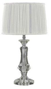 Lampa stołowa Kate-2 TL1 Round 122885 Ideal Lux biała oprawa w kryształowym stylu