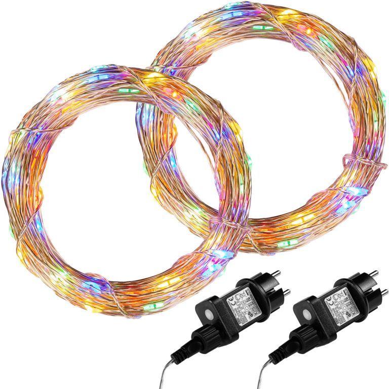 Zestaw 2 sztuk drutów świetlnych 200 LED - w kolorze