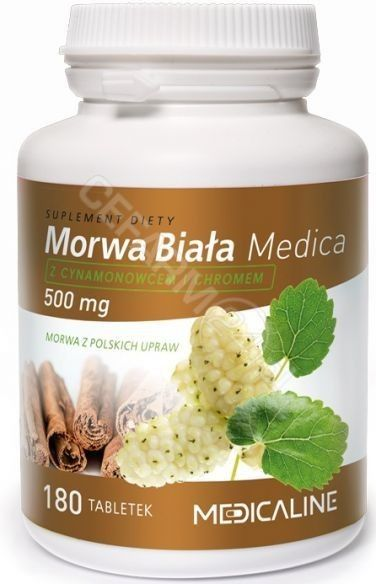 Medica Morwa Biała 500 mg - 180 tabletek