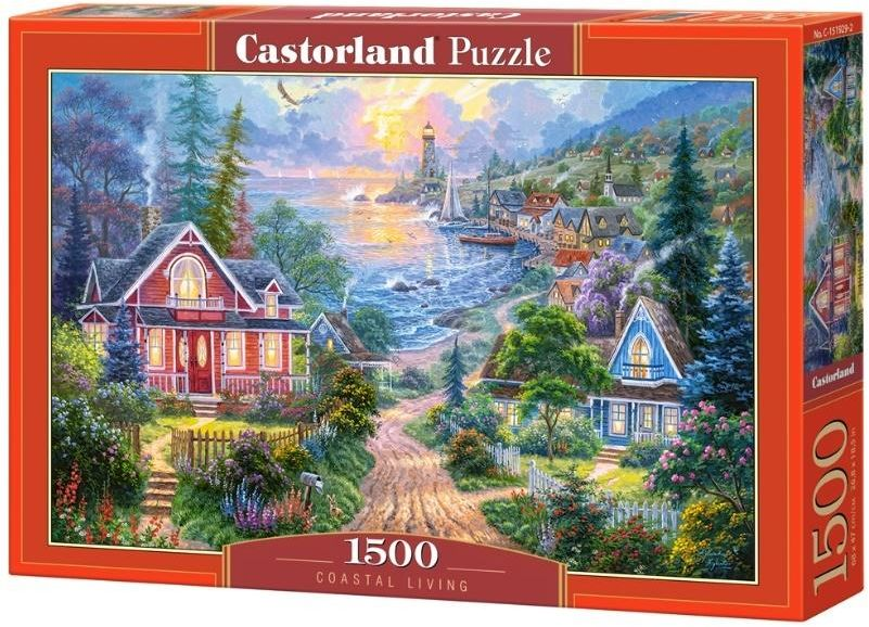 Puzzle 1500 Coastal Living CASTOR - Castorland