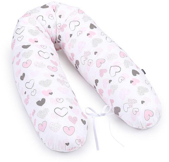 MAMO-TATO Poduszka dla kobiet w ciąży Pastelowe serduszka