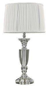 Lampa stołowa Kate-3 TL1 Round 122878 Ideal Lux biała oprawa w kryształowym stylu
