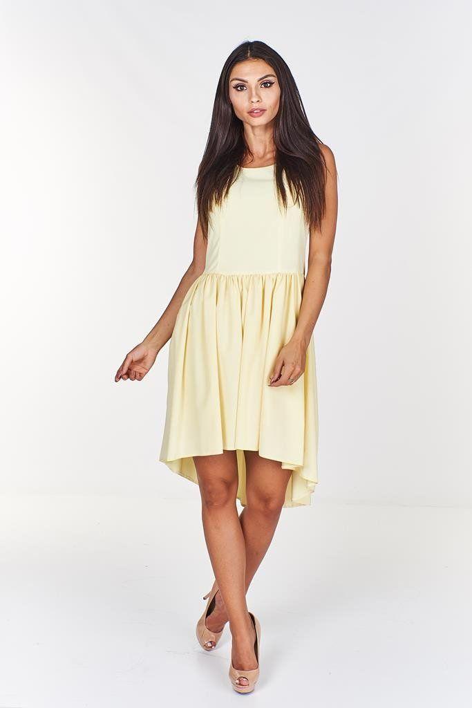 Sukienka FSU371 ŻÓŁTY JASNY
