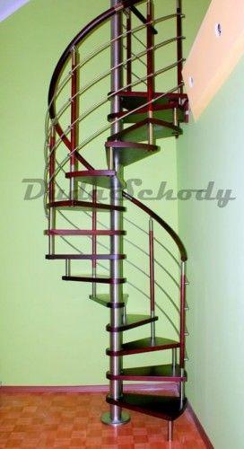 Schody spiralne DUDA model Venecja vertical 02 ø 110 cm