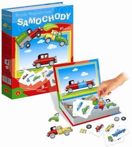 Puzzle magnetyczne Samochody 41 elementów