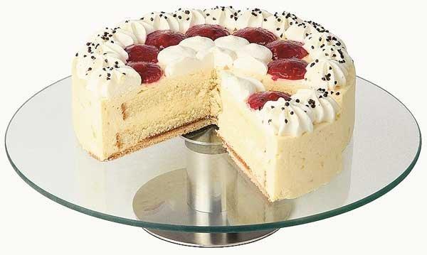 Obrotowa patera ze szkła do tortów i ciast śr. 300x(H)70mm