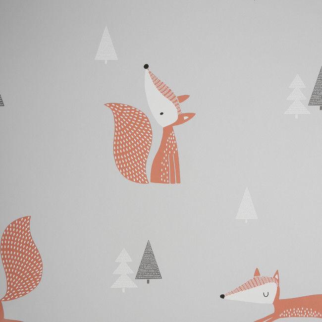 Tapeta papierowa GoodHome Peyote pomarańczowo-szara