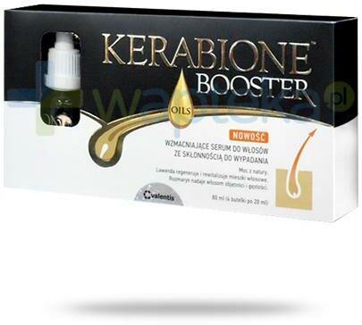 Kerabione Booster Oils wzmacniające serum do włosów ze skłonnością do wypadania 4x 20 ml