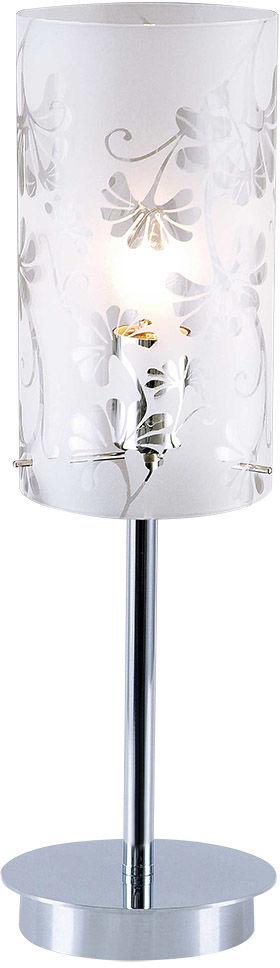 Italux lampa stołowa Sense MTM1673-1 z motywem kwiatowym