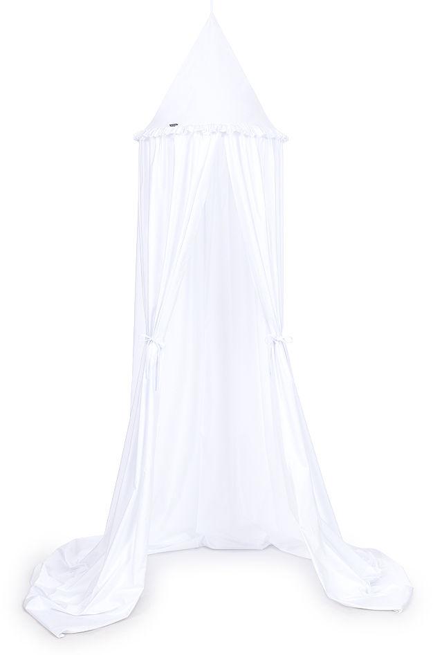 MAMO-TATO Baldachim wiszący z falbanką - Biały
