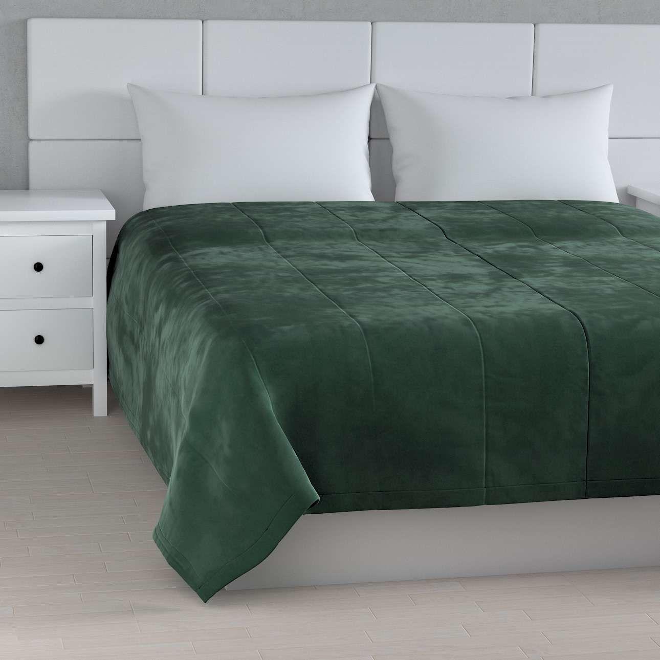 Narzuta pikowana w pasy Velvet 260 x 240 cm, ciemny zielony, szer.260  dł.240 cm, Velvet