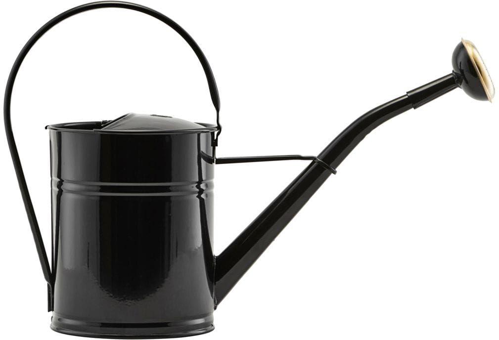 Konewka Do Podlewania Roślin Domowych Czarna Połysk 2L