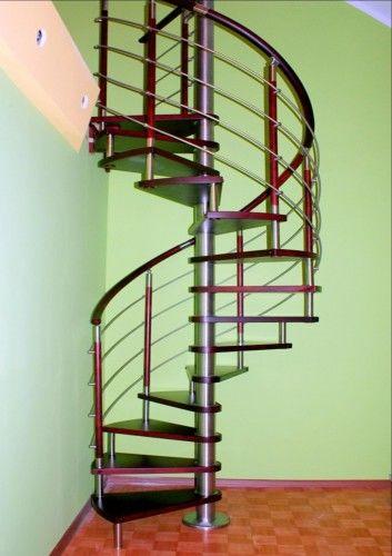Schody spiralne DUDA model Venecja vertical 02 ø 120 cm