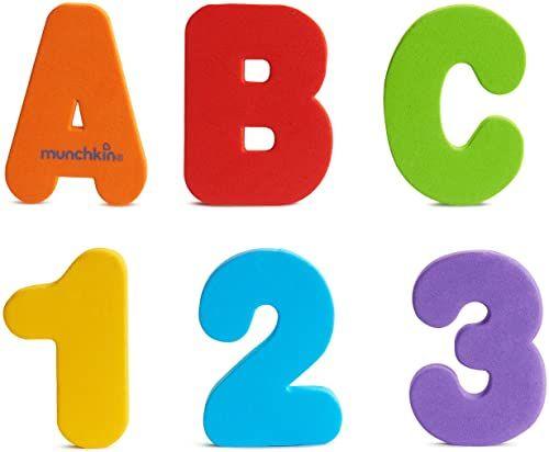 Munchkin 1110803 Learn litery i cyfry (AZ, 09) zabawka do kąpieli