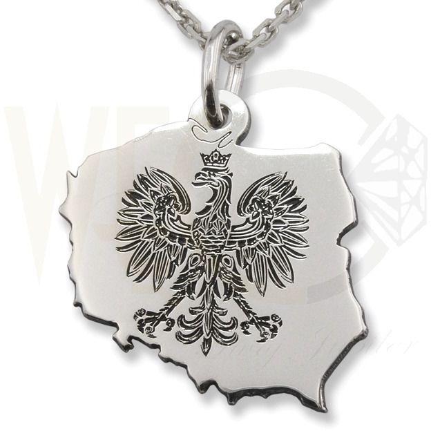 Wisiorek z łańcuszkiem ze srebra orzeł-5