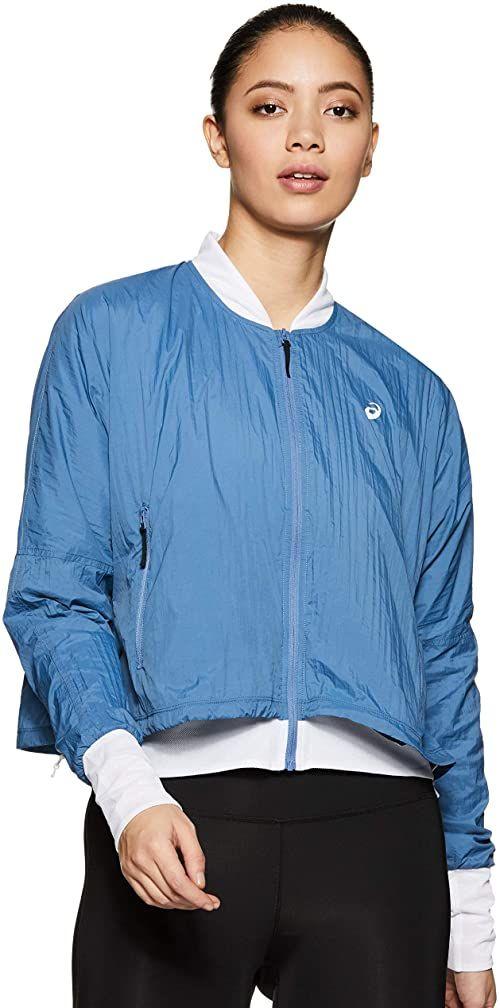 Asics damska kurtka treningowa, jasnoniebieska, jasnoszara, M