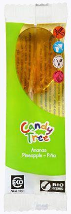 Lizaki o smaku ananasowym bezglutenowe bio 13 g - candy tree