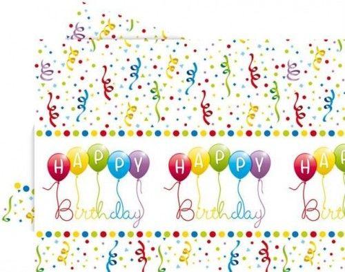 """Obrus foliowy """"Balonowe Happy Birthday"""""""