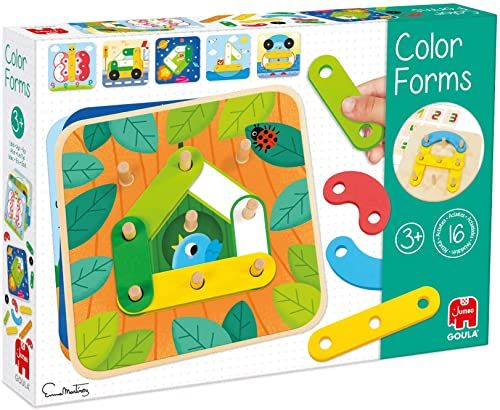 Goula Formy do gry edukacyjnej z drewna, wielokolorowe (53474)