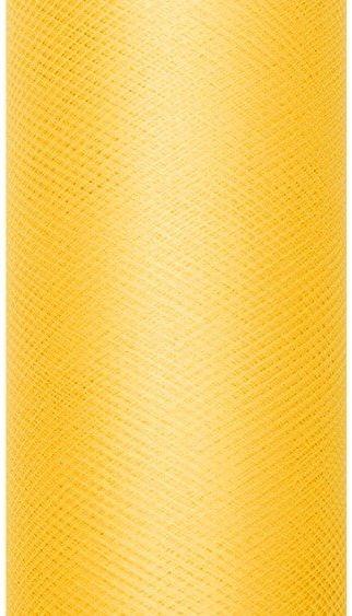 Tiul dekoracyjny żółty 15cm x 9m 1 rolka TIU15-009