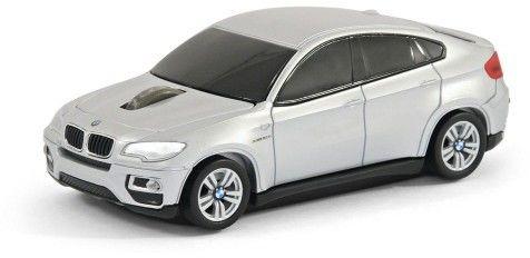 BMW X6 - srebrny - Landmice mysz bezprzewodowa samochód