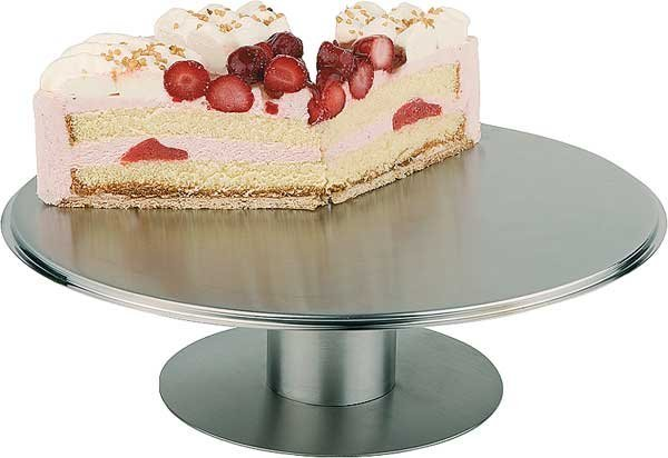 Obrotowa patera ze stali nierdzewnej do tortów i ciast śr. 305x(H)90mm