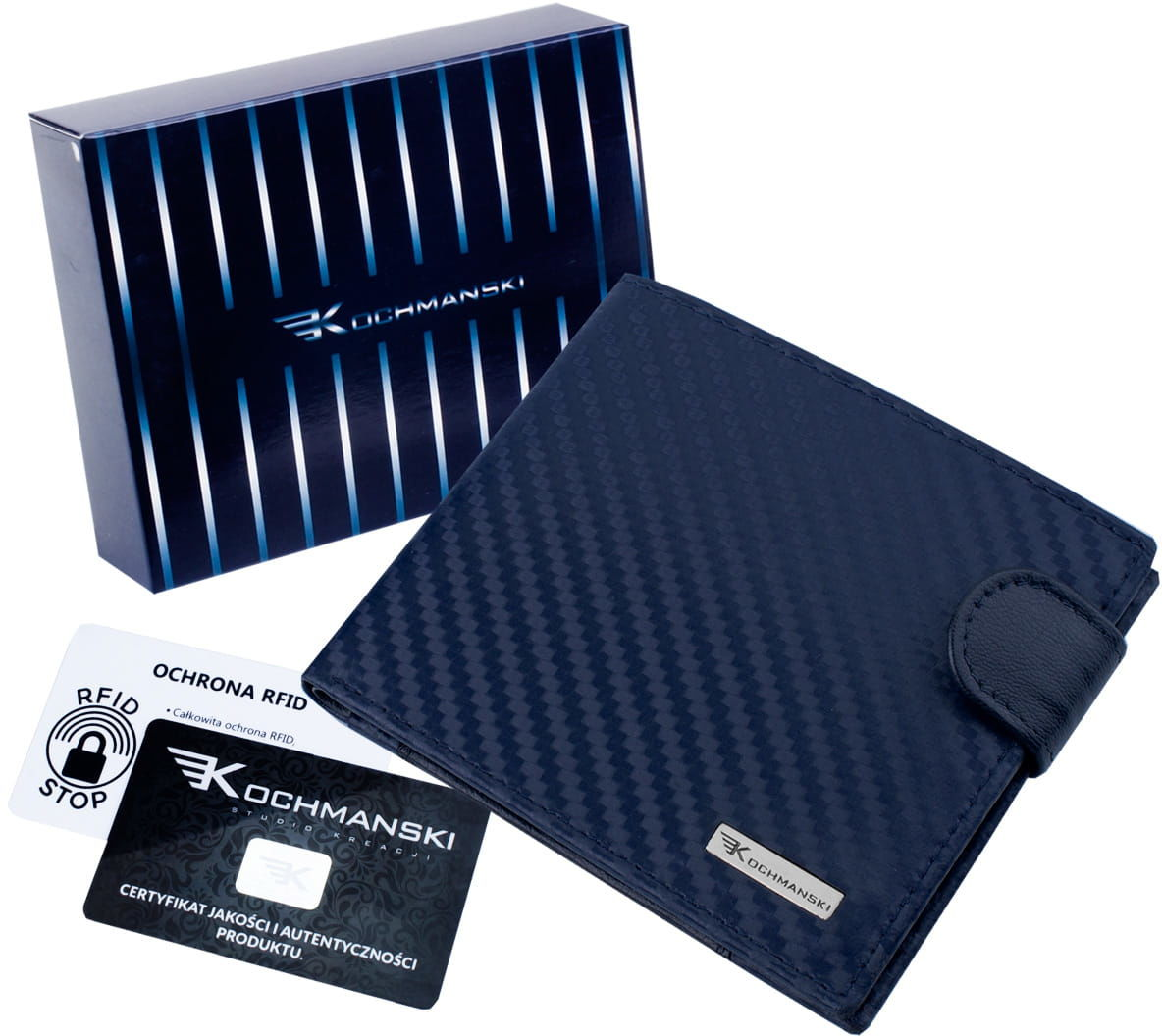 KOCHMANSKI cienki skórzany portfel męski PREMIUM 3212