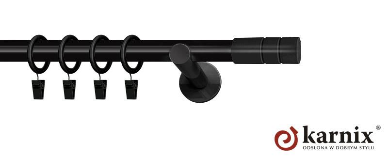 Karnisze nowoczesne NEO pojedynczy 19mm Cylinder czarny