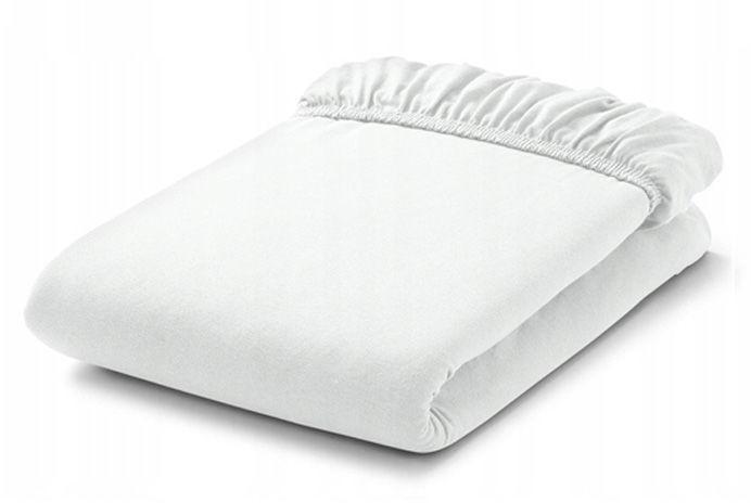 MAMO-TATO Prześcieradło bawełniane z gumką do łóżeczka 70x140 Biały