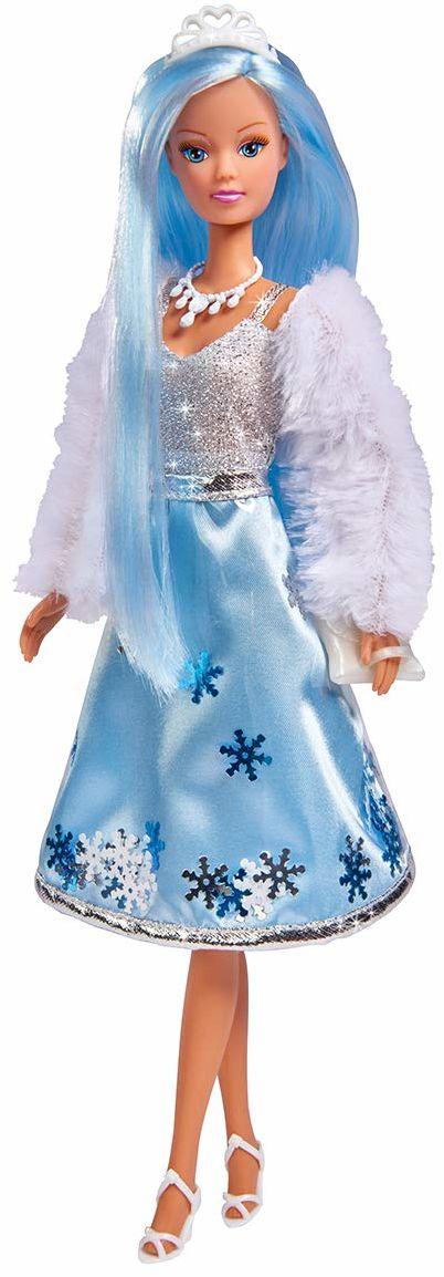 Steffi Love Ice Glam nowoczesna loda księżniczka lodu z futrzaną kurtką i dwuwarstwową spódniczką z akcesoriami