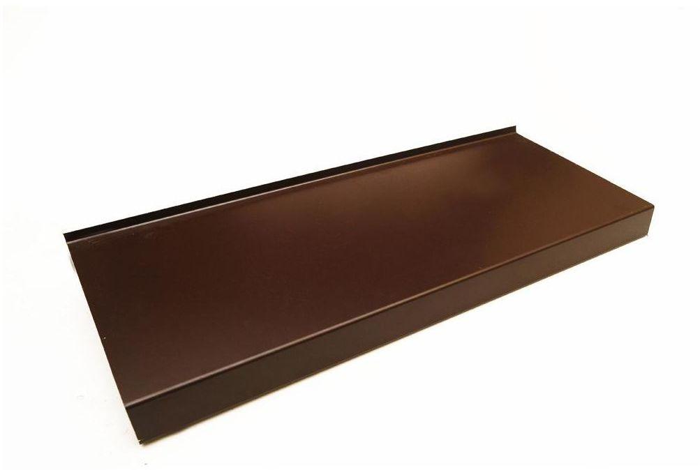 Parapet zewnętrzny STALOWY Brązowy 25 x 150 cm DOMIDOR