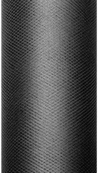 Tiul dekoracyjny czarny 15cm rolka 9m TIU15-010 - CZARNY 15CM