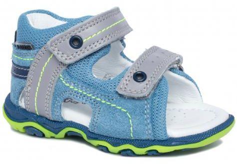 Bartek Baby 11848/7 - 89Q sandałki sandały profilaktyczne dla dzieci niebieski - szary