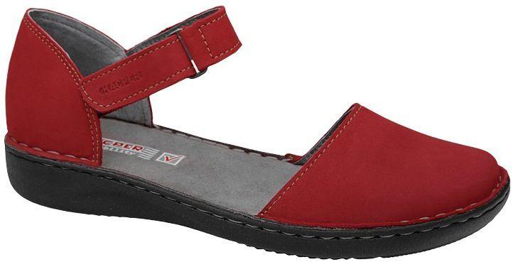 Półbuty Sandały KACPER 2-0458-847 Czerwone na rzepy damskie