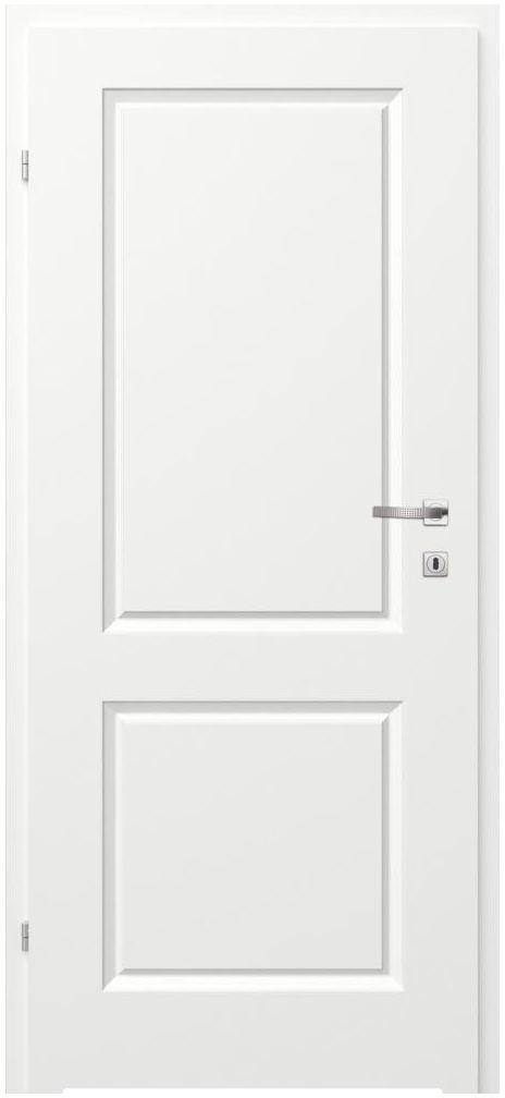 Skrzydło drzwiowe łazienkowe pełne z podcięciem wentylacyjnym Morano II Białe 60 Lewe Classen