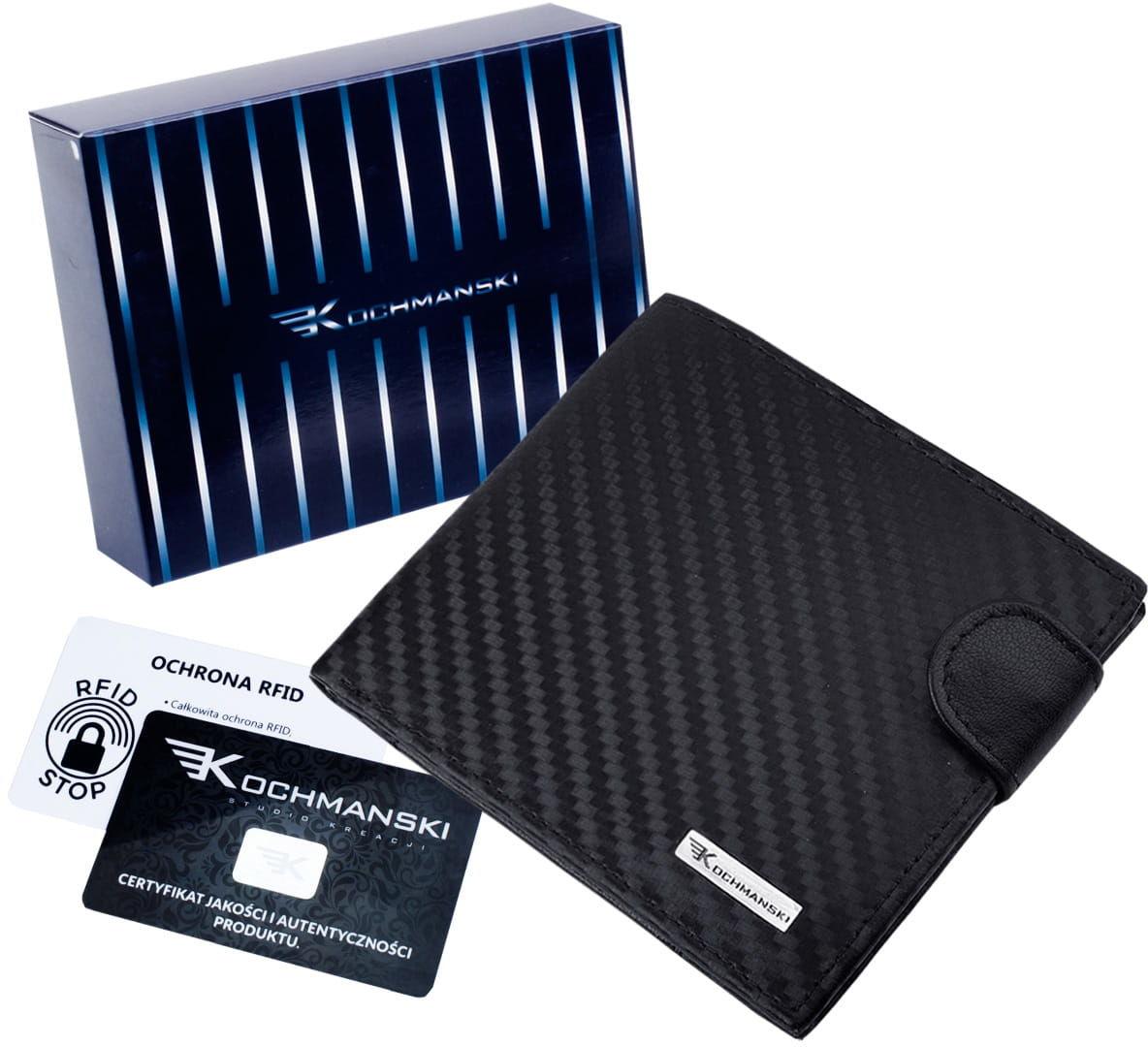 KOCHMANSKI cienki skórzany portfel męski PREMIUM 3209
