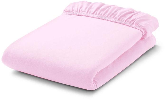 MAMO-TATO Prześcieradło bawełniane z gumką do łóżeczka 70x140 Jasny róż