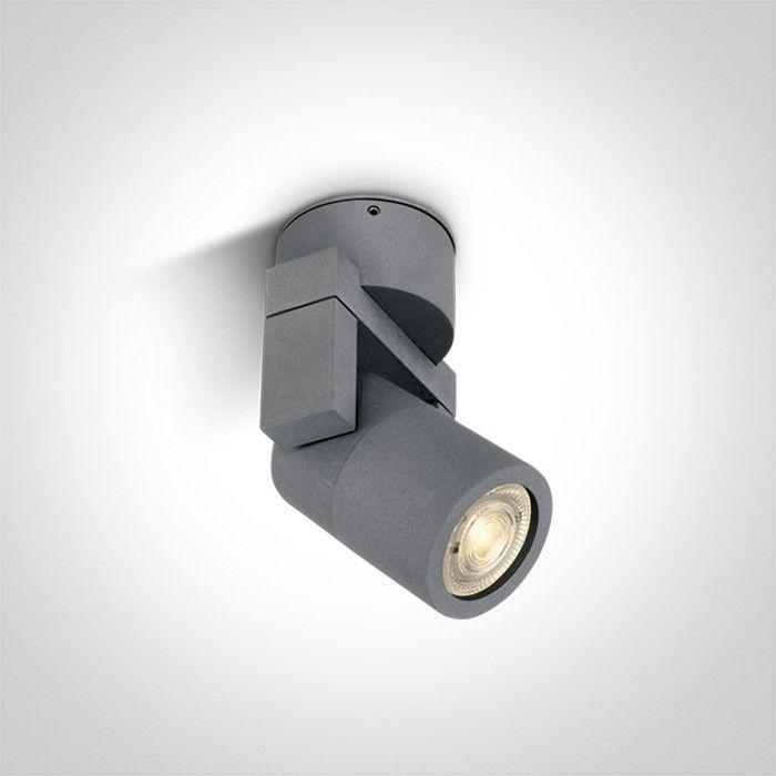Lampa sufitowa zewnętrzna regulowana Peio 1 punktowa szara IP54 67164/G - OneLight Do -17% rabatu w koszyku i darmowa dostawa od 299zł !