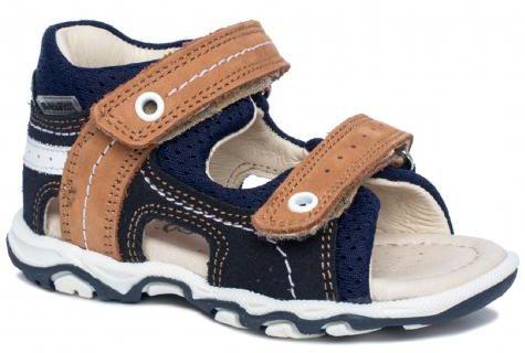 Bartek Baby 11848/7 - BAI sandałki sandały profilaktyczne dla dzieci granat - brąz